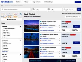 serik.neredekal.com screenshot