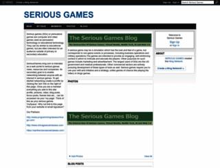 seriousgames.ning.com screenshot