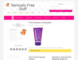 seriouslyfreestuff.com screenshot