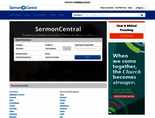 sermoncentral.com screenshot