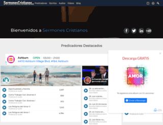 sermonescristianos.org screenshot
