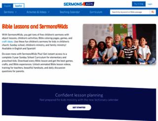 sermons4kids.com screenshot