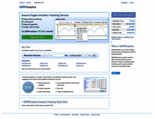 serpanalytics.com screenshot