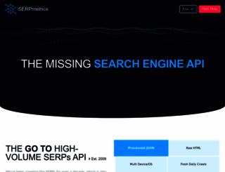 serpmetrics.com screenshot