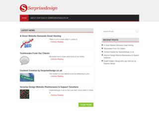 serprisedesign.co.uk screenshot