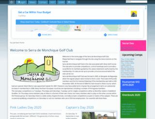 serrademonchiquegolfclub.com screenshot