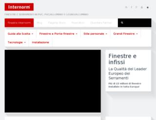serramenti-internorm.com screenshot