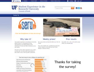 seru.ufl.edu screenshot