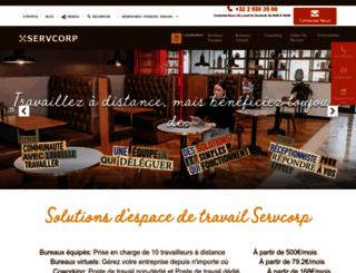 servcorp.be screenshot