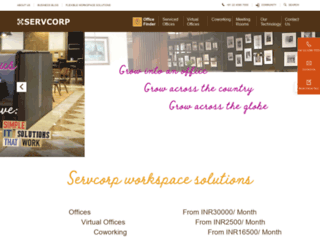servcorp.co.in screenshot