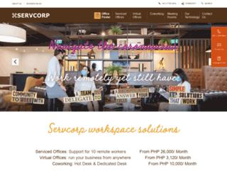 servcorp.com.ph screenshot