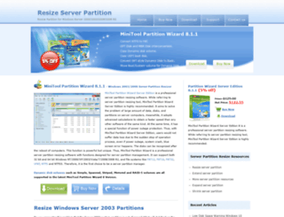 server-partition-resize.com screenshot