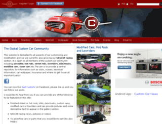 server.justcustomz.com screenshot