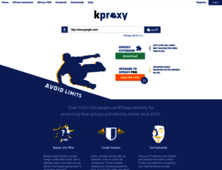 server.kproxy.com screenshot