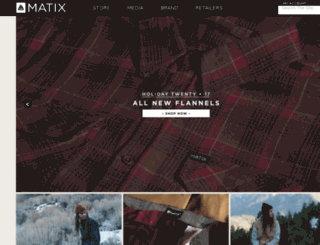 server.matixclothing.com screenshot