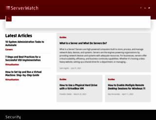 serverwatch.com screenshot
