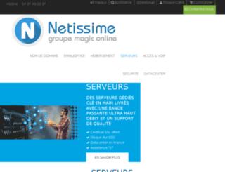 serveur-dedie.netissime.com screenshot