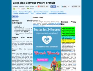 serveurproxy.net screenshot