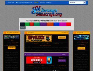 serveursminecraft.org screenshot
