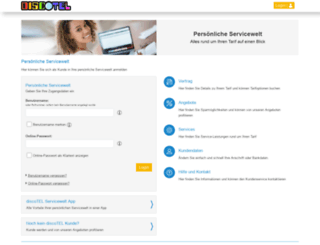 service.discotel.de screenshot
