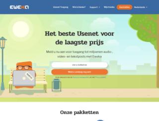 service.eweka.nl screenshot