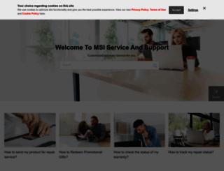 service.msicomputer.com screenshot