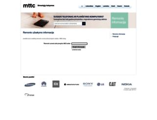 service.mttc.lt screenshot