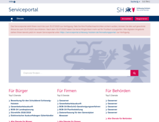 service.schleswig-holstein.de screenshot