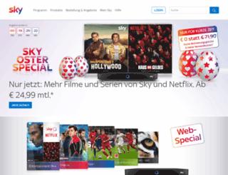 service.sky-empfehlung.de screenshot