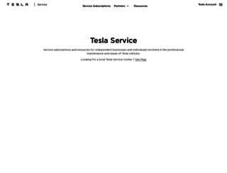 service.teslamotors.com screenshot