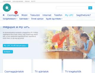 service.upc.hu screenshot