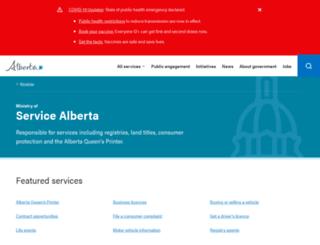 servicealberta.gov.ab.ca screenshot