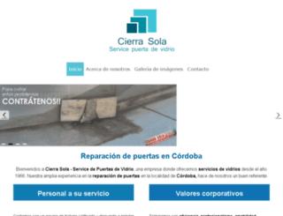 servicecierrasola.com.ar screenshot