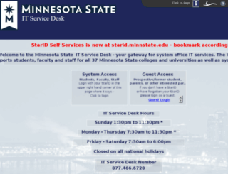 servicedesk.mnscu.edu screenshot