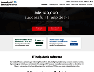 servicedeskplus.com screenshot