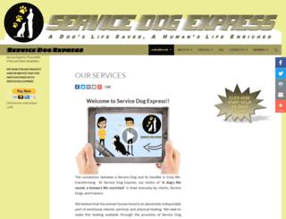 servicedogexpress.com screenshot