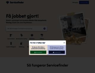 servicefinder.se screenshot