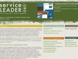 serviceleader.org screenshot