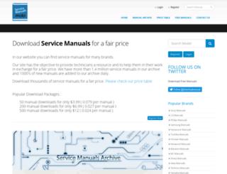 servicemanuals.mobi screenshot