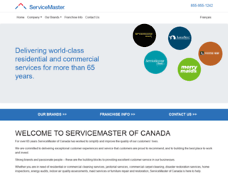 servicemaster.ca screenshot