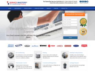 servicemastershvacr.com screenshot