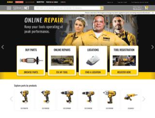 servicenet.portercable.com screenshot