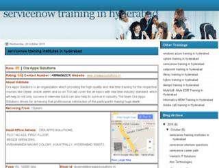servicenowtraininghyderabad.com screenshot