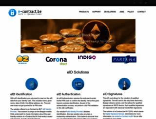 services.e-contract.be screenshot