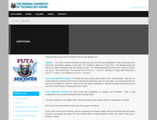 services.futa.edu.ng screenshot