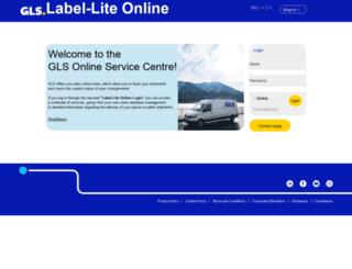 services.gls-belgium.com screenshot