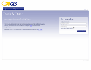 services.gls-netherlands.com screenshot