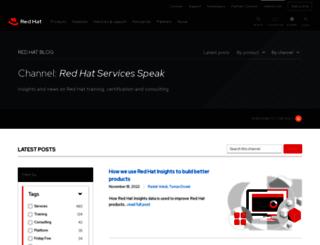 servicesblog.redhat.com screenshot