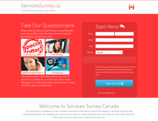 servicessurvey.ca screenshot