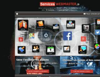 serviceswebmaster.direct-pub.fr screenshot
